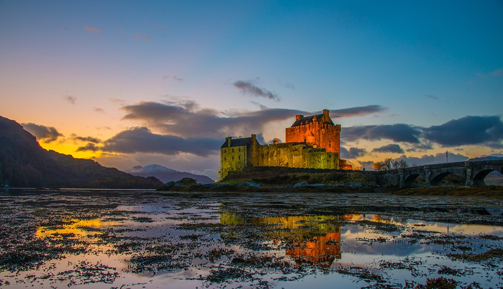Eilean Donan Castle is one of many castles to visit in Scotland on a private guided tour