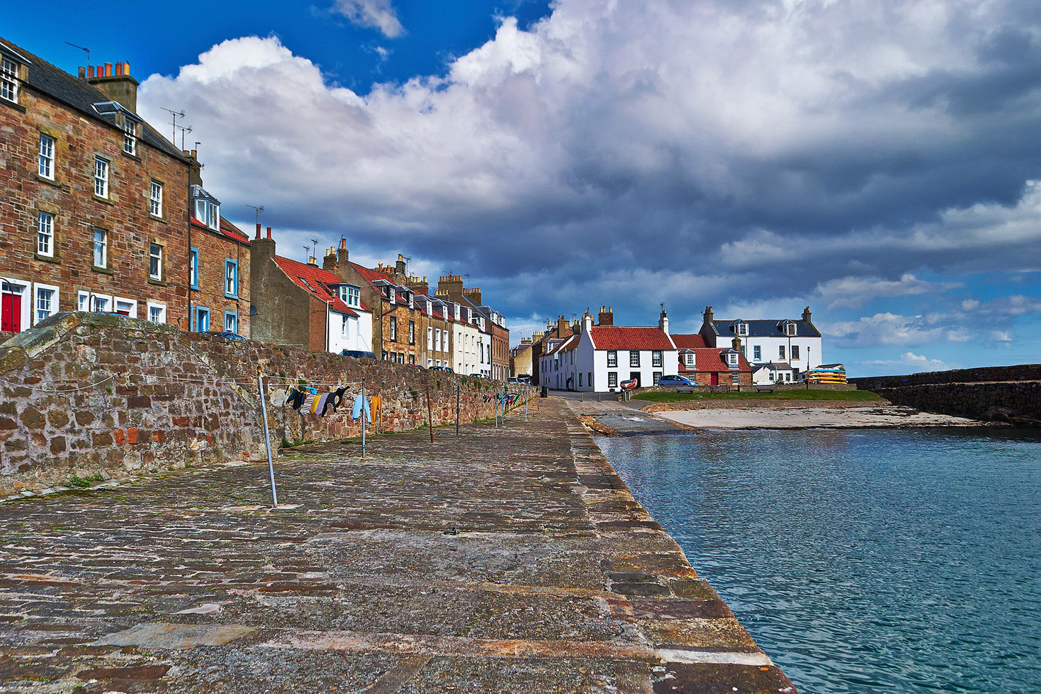 Anstruther Harbour is a harbour town that is visited during our royal and ancient tour of Scotland