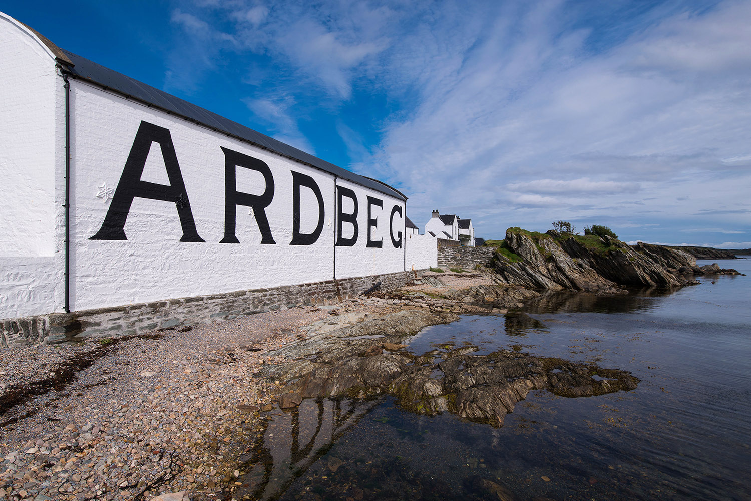 Ardbeg Distillery, a Scottish whisky distillery that is featured on our whisky tour - Scottish Spirit