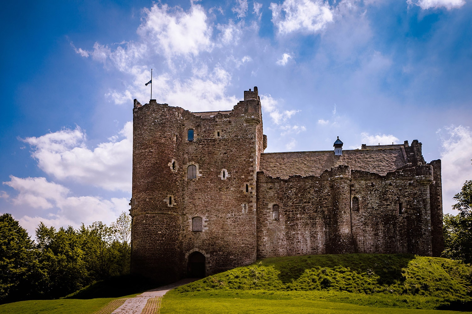 Doune Castle in Stirlingshire is featured in our Outlander tour of Scotland