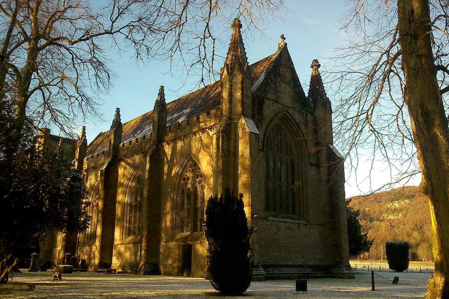Dunkeld Cathedral in Perthshire is a highlight of our Highlander tour of Scotland