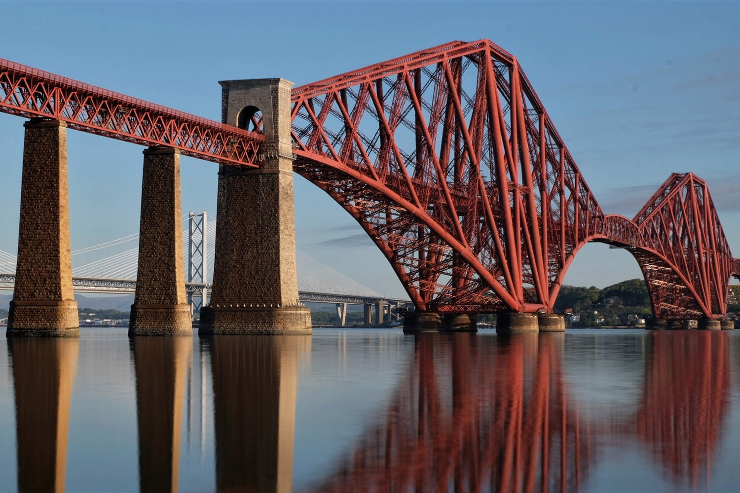 The Forth Railway Bridge is a UNESCO world heritage site and a must see on a private tour of Scotland
