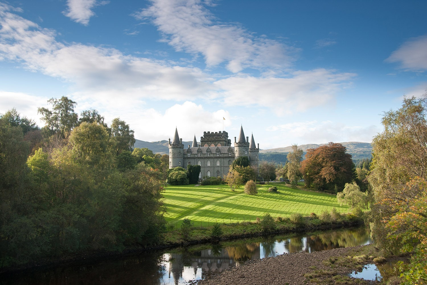 Inverary Castle is a highlight our of castle maniacs tour - a tour of Scottish castles