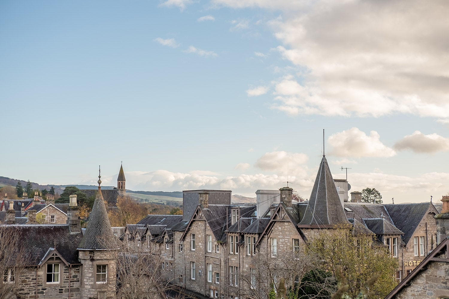 The village of Pitlochry in Perthshire, a lovely place to visit on a private tour of Scotland