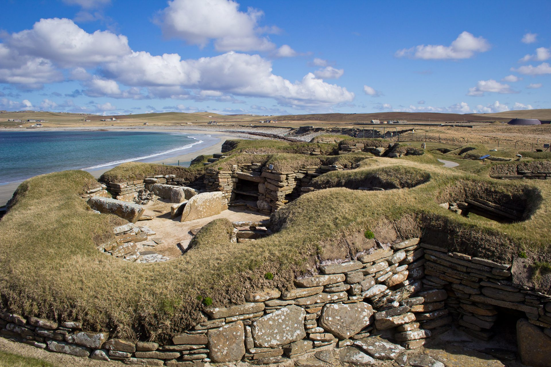 Skara Brae in Orkeny, a highlight of our prehistoric tour of Scotland