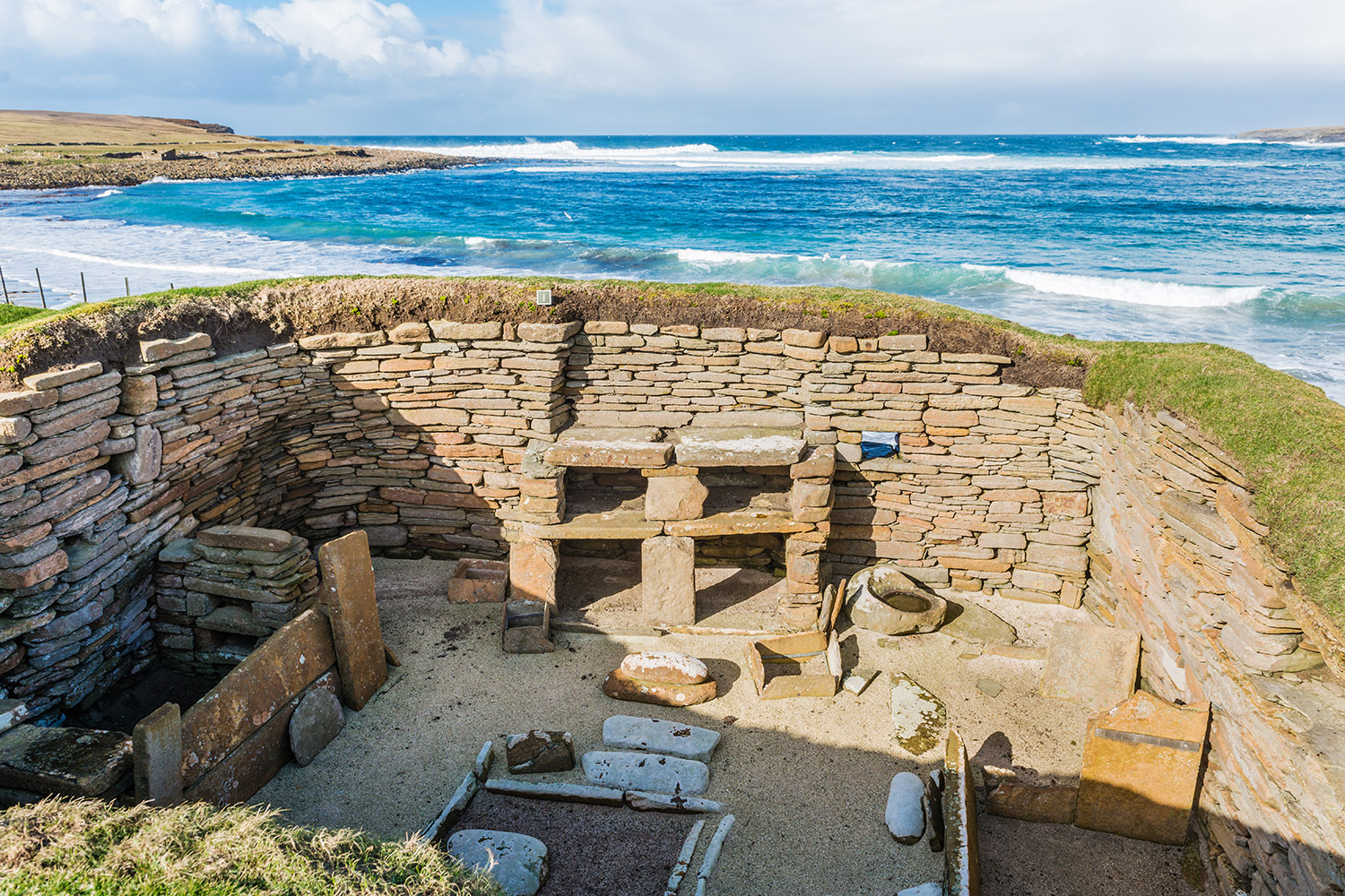 Scara Brae in Orkney dating from c.2900bc is a highlight of our prehistoric Scotland tour