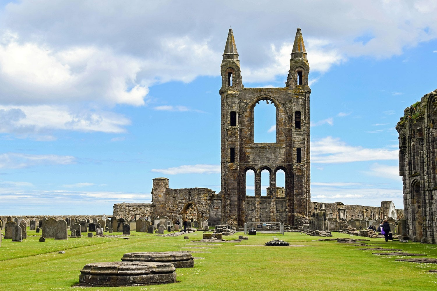 The cathedral in St Andrews makes an appearance in our royal and ancient tour of Scotland