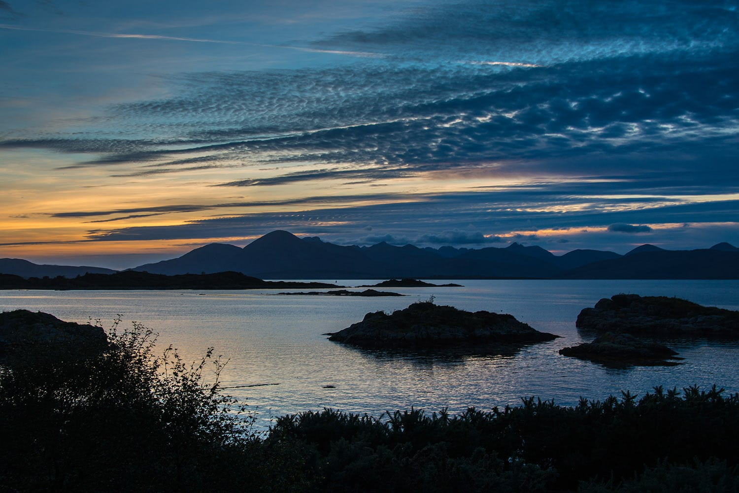 A view of Skye from Plockton Hill which can be featured in our bespoke private tours of Scotland